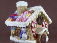 ravelry Frankie Brown Knitted Gingerbread House Advent Calendar
