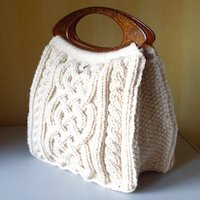 ravelry Karen S Lauger Knitted Celtic Knot Handbag