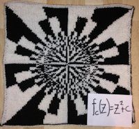 ravelry Lina Wolf Knitted Fractal Pillow