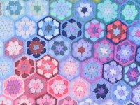 ravelry Vinnis Colours Colourful Crocheted Hexagon Blanket