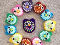 ravelry Yarn Artists Key Chain Owl