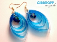recyclart Cirrhopprecycle Plastic Bottle Earrings