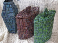 recyclart Helena andreasson Cardboard Mosaic Container