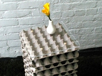 replayground Side Table from Egg Cartons