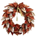 the red thread Paper Leaves Wreath