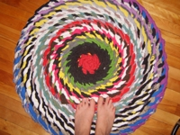 thethingswedoforloveandmoney Braided Rag Rug