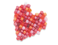 unikatissima Bead Square Stitch Heart