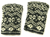 unikatissima Double Knitted Wristwarmers