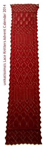 unikatissima's lace knitter's advent calendar 2014