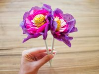 voyages of the creative variety Valentine Tissue Flowers