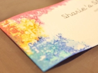while the sun shines Ink Dyed Business Cards