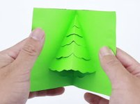 wikiHow Christmas Tree Pop Up Card