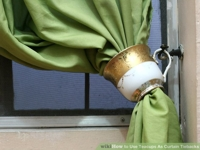 wikiHow Teacup Curtain Tieback