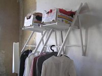 yiconglu Old Folding Chairs to Coat Rack