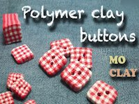 youtube Mo Clay Polymer Clay Gingham Buttons