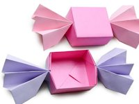 youtube Paper Kawaii - Origami Tutorials Origami Candy Box