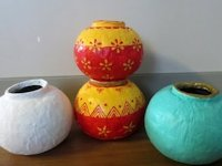 youtube ReadyFor DIY Round Papermache and Plaster Vases