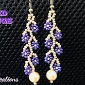 youtube Sonysree Creations Beaded Daisy Earrings